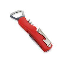 Stainless steel bottle opener plastic handle and corkscrew