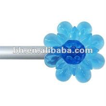 curtain rod flower finial,mini shower curtain rod,home decor accessories in a box