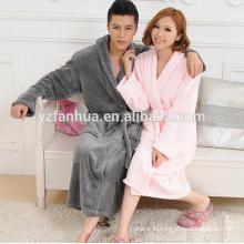 Peignoir de flanelle couples toison masculine fabriqué en Chine