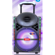 12inch Smart Wireless Bluetooth Trolley Speaker with Light Remote Cx-17D
