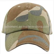 Heavy Washed Camoflage Chino Twill Sport Baseball Cap (TMB1268)