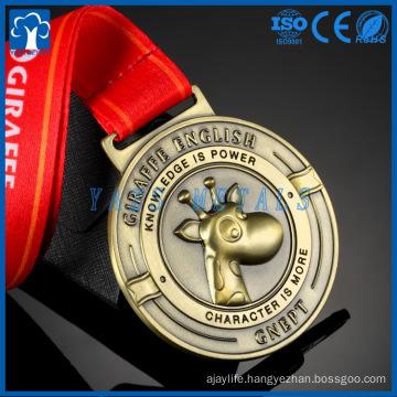 New design custom cartoon Arts sports award soft enamel gold metal medal