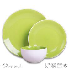 Vajilla de alta calidad verde Juego de cena de gres