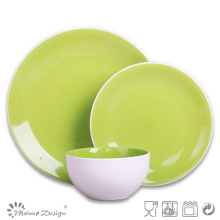 Green High Quality Crockery Stoneware Dinner Set