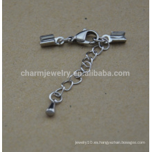 BXG031 corchete de la cuerda de la garra de la langosta del acero inoxidable para la pulsera Joyería de DIY resultados y componentes