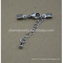 BXG031 fermoir à cordon à ongles en acier inoxydable pour bracelet Bijoux bricolage Décors et composants