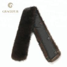 Chine fournisseur en ligne Shopping pas cher réel fourrure rex collier de fourrure de lapin pour les manteaux