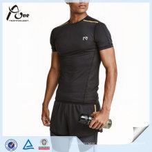 Short-Sleeved Running Top Großhandel Custom Gym Tragen für den Mann