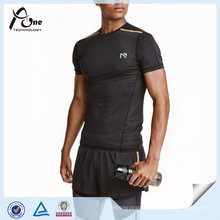 Short-Sleeved Running Top Wholesale Custom Gym Wear for Man