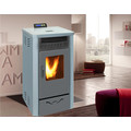 Indoor Using Pellet Stove with Remote Control and Double Black Glass Door