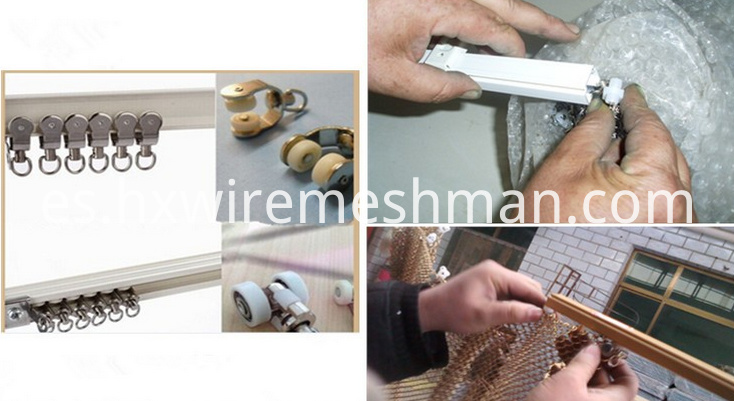 wire coil curtain accessories