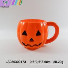 Gobelet en plastique en forme de citrouille d'Halloween
