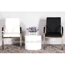 Modern elegant PU &metal dining chair