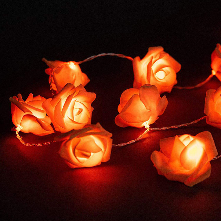rose flower led festival string light