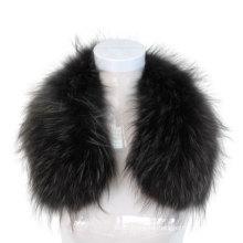 Dyed Large Genuine Raccoon Fur Collar Trim for Coat