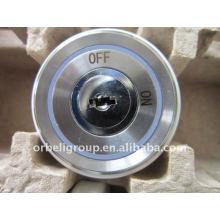 Elevator key lock, round