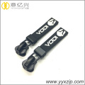Marca Custom Letters Silicone Zipper Slider Pullers