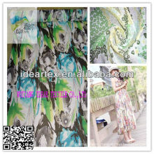 Polyester Printed Chiffon Yoryu Fabric/Lady dress