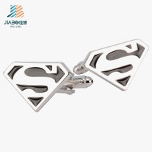 Botão de punho feito sob encomenda do superman do esmalte liga de zinco da amostra grátis para relativo à promoção