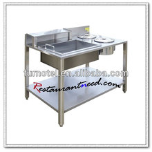 K359 Freestanding Stainless Steel Wrapping Powder Cooking Table