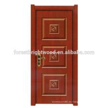 Diseño simple clásico de la puerta moldeada MDF de la melamina de la pintura simple