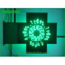 Tempo ao ar livre / temperatura / texto / umidade Única cor Farmácia Cruz LED