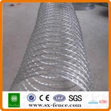 200g / m2 High Hot Dipped galvanizado Concertina Razor Barb Wire Fabricante