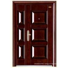 Stainless Steel Security Door KKD-317B For One and Half Design From Yongkang Door Factory