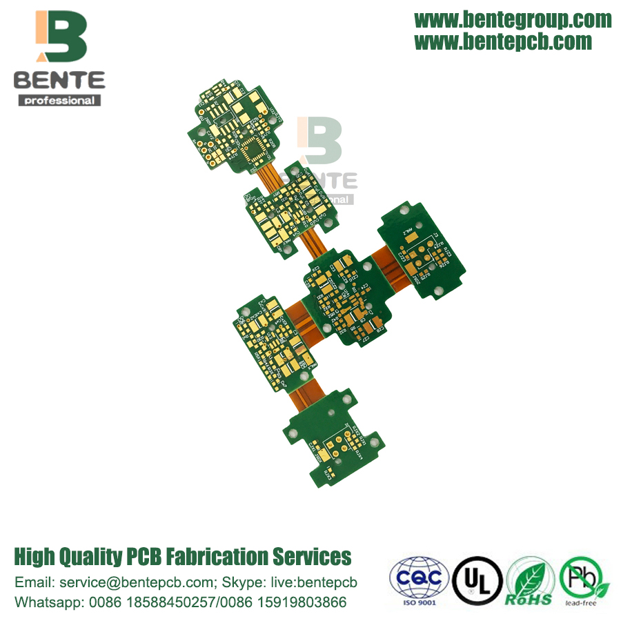 Alta precisione Rigid-flex 4Layers PCB ENIG