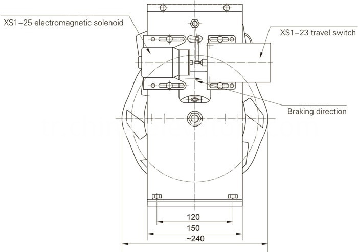 Drawing of Speed Governor for MRL Elevators ≤1m/s