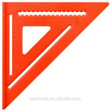 Triângulo de alumínio, régua quadrada