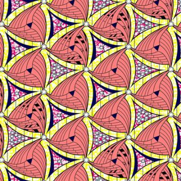 Pur coton cire Imitation tissus d'Afrique