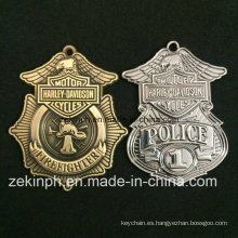 Medalla de cobre amarillo del metal de la aleación del cinc de la policía de encargo de los productos para las ventas