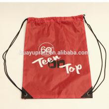 Sac à cordon et sac à corder en nylon et personnalisé pour l'usine