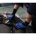 Nylon e luva de malha Spandex com 3/4 preto Sandy nitrilo mergulhando (N1572)