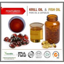 Suministro saludable de cápsulas de gelatina recubiertas entéricas Aceite de krill antártico