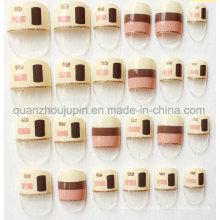 Etiqueta engomada de la uña de la decoración de los accesorios del arte de la belleza del clavo artificial de la moda de encargo