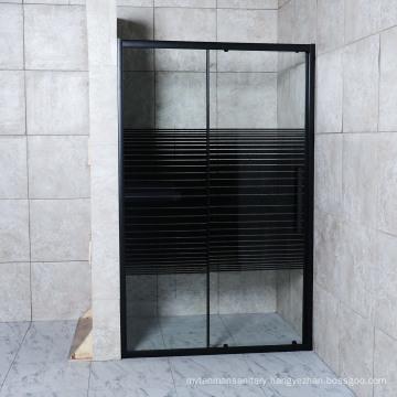 Sliding Door Black Lines Home Use Shower Screen Shower Partition