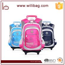 High Quality Rolling Trolley School Bag With Wheels Kids Trolley Bag