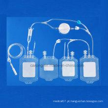 Saco de sangue de PVC descartável médico para uso hospitalar