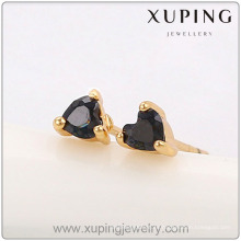90847-Xuping Jewelry Fashion New Model Fancy Stud Earring con encantos Heart Shap