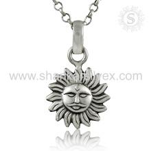 Joyería de plata llana Sun hace frente a la joyería de plata india de la joyería de plata 925