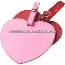 Heart shaped leather luggage tag for 2014