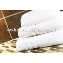 Toalha de mão do hotel da listra branca do algodão 100%