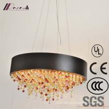 Matt Black Indoor Crystal Pendant Lamp for Hotel Decorative