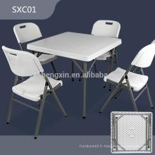 Vente en gros Table de plâtre HDPE en plastique pliante