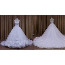 Ivory Butterfly Chapel Train Wedding Dress