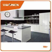 Moderno diseño italiano muebles para el hogar uso de cocina de alto brillo lacado gabinete de cocina