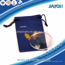 wholesale bule microfiber glasses cleaning pouch