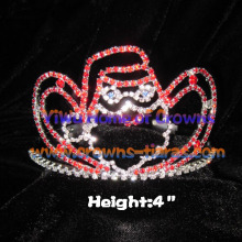 4inch Unique Crystal Santa Claus Crowns